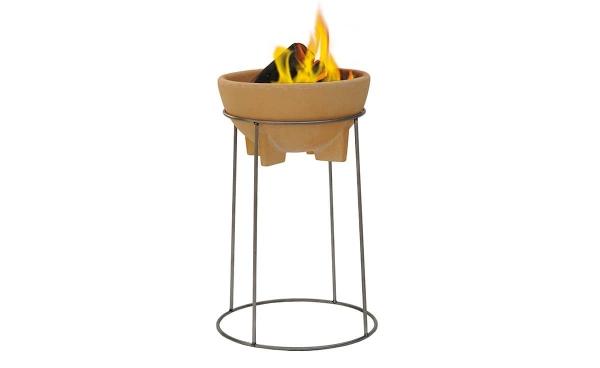 Bol ceramic pentru foc cu stand 2