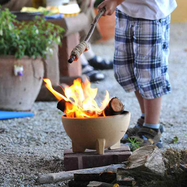 Mini bol ceramic pentru foc 0
